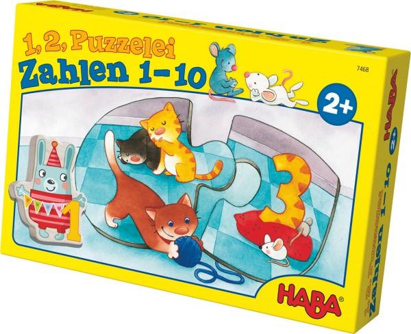 HABA 1,2, Puzzelei Zahlen 1-10 Lernspiel 7468