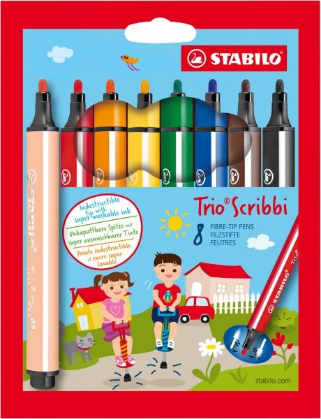 Trio Scribbi Stabilo 8er Set