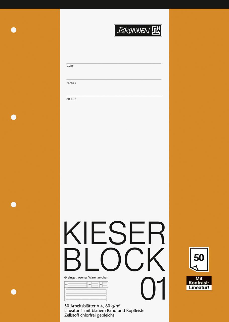 KIESER-Block 01 Lineatur 1 A4 | Kieserblöcke & Arbeitsblöcke ...