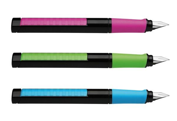 Schneider Base Linkshänder Schulfüller Neonfarben