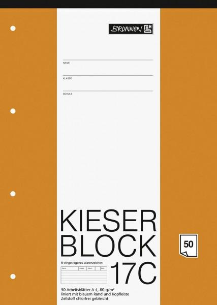 KIESER-Block 17C Lineatur 21 A4