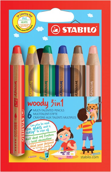 Stabilo Woody 3 in 1 Multitalentstifte