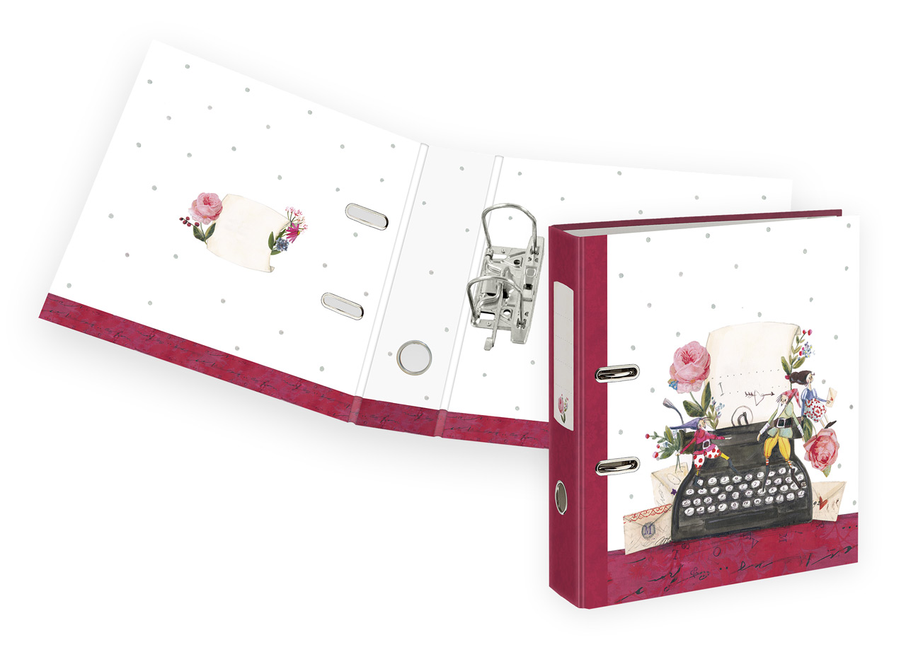 Graetz-Verlag-Motivordner-Schreibmaschine-ordner-A4-8cm-02404-lafueliki