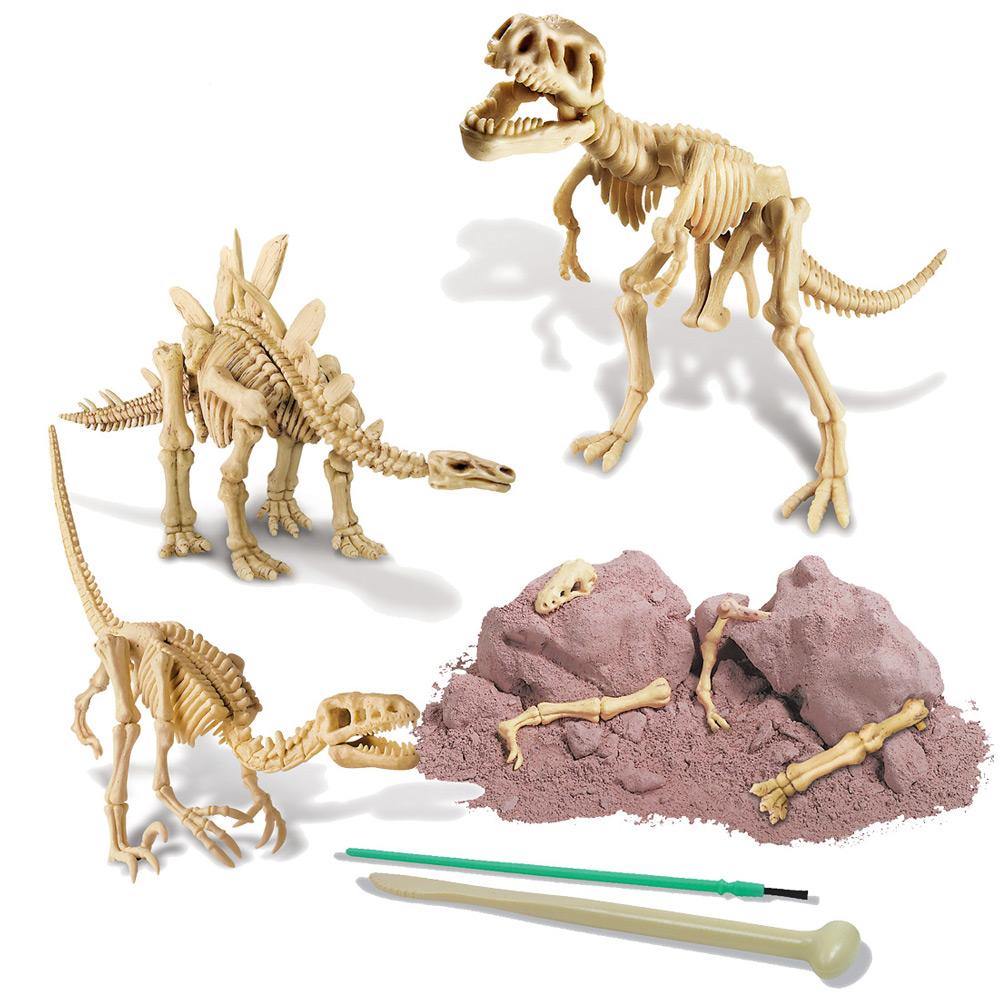 Dinosaurier-Skelett-Ausgraben-Kinder-Gipsblock-lafueliki