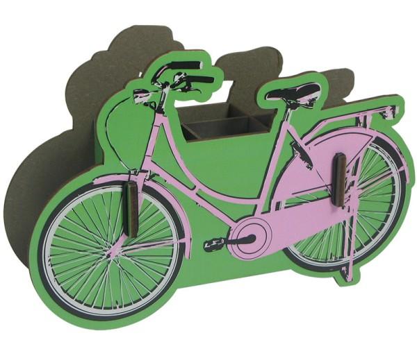 WERKHAUS® Stiftebox - Fahrrad - pink
