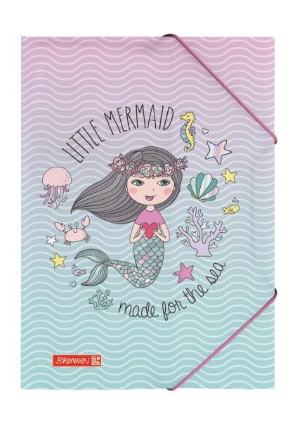 Brunnen Sammelmappe in DIN A4 Motiv Mermaid kleine Meerjungfrau