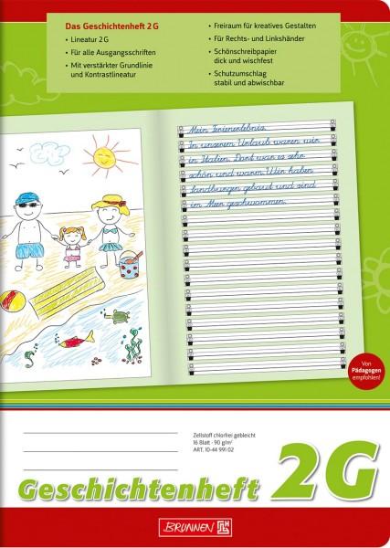 Geschichtenheft - 2G - A4 - Brunnen Klasse 2