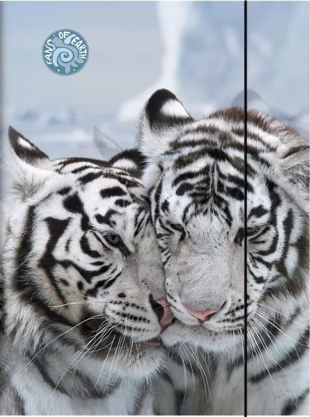 Brunnen Sammelmappe - A3 - Weißer Tiger