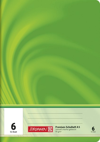 Schulheft A5 Premium Lineatur 6