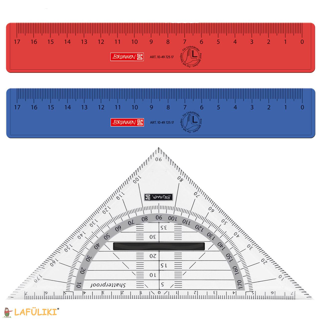 abheftbar Farbe Geometriedreieck rot biegsames Geo-Dreieck