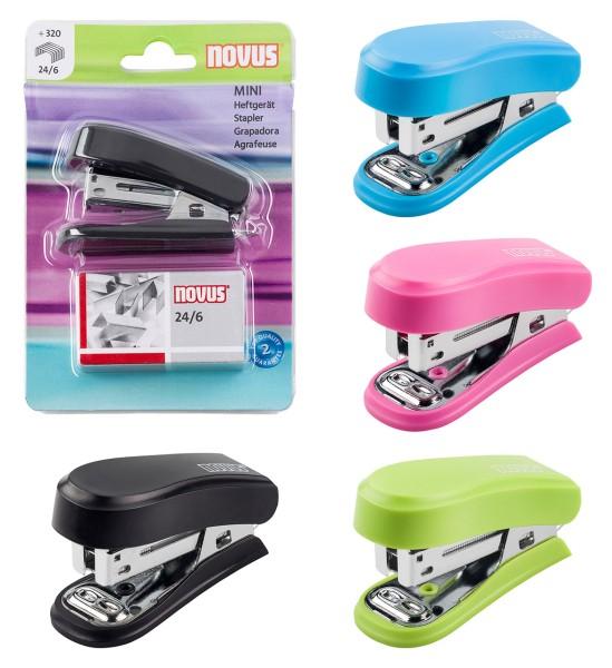 1000 farbige Heftklammern Farbe Heftmaschine Mini Heftgerät schwarz-pink