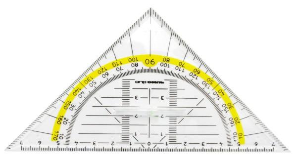 Rumold Geodreieck mit festem Griff - Rumo DUO - 16 cm