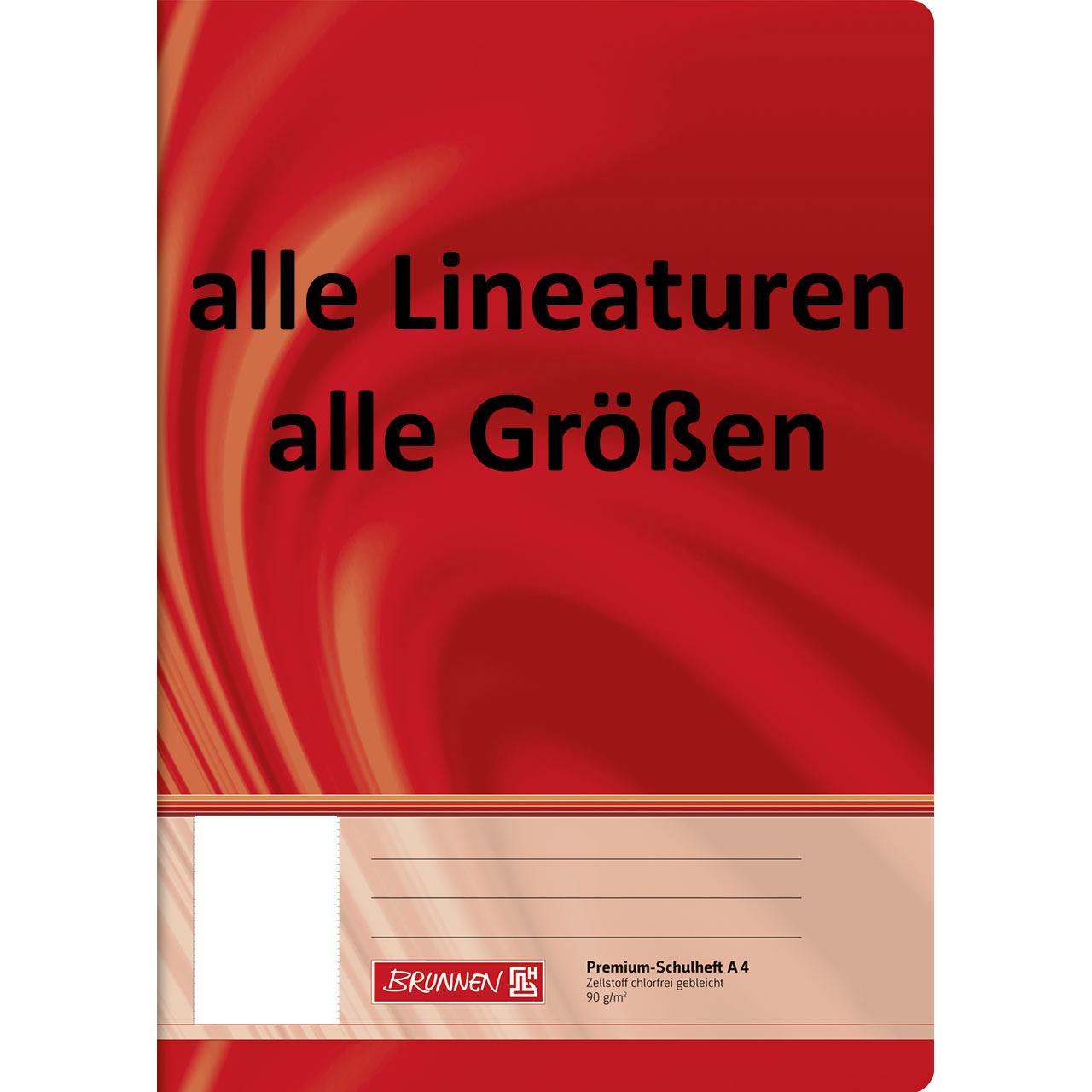 10 Schulhefte Lineatur 29 DIN A4 16 Blatt Kariert mit Rand gr Kästchen Schulheft