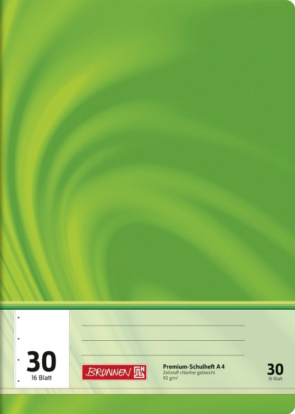 Schulheft A4 Premium Lineatur 30