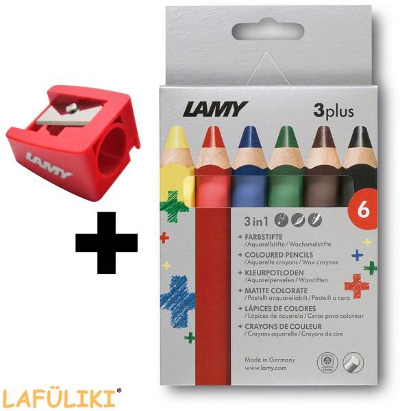 Lamy 3plus 6er Set inkl. RH Spitzer