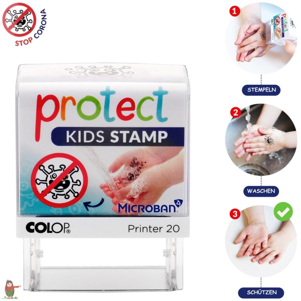 COLOP protect KIDS STAMP - Handwasch-Stempel