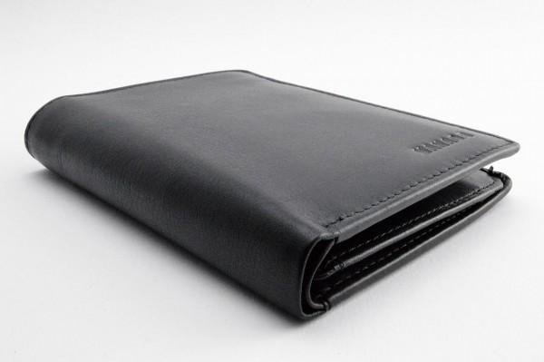 Linkshänder Portemonnaie Kombibörse schwarz