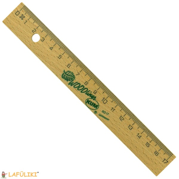KUM Holzlineal 17 cm für Rechtshänder