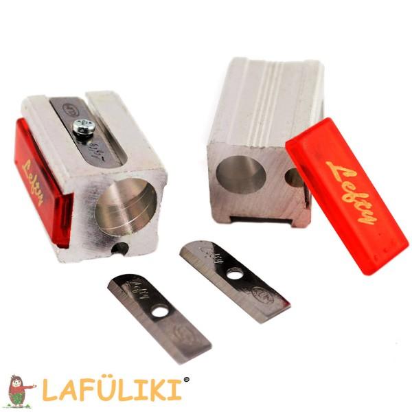 Linkshänder Doppelmetallspitzer mit Ersatzklingen