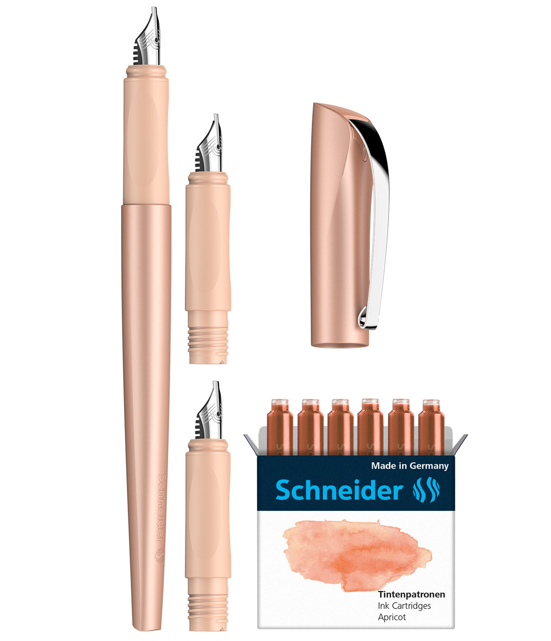 Schneider-Kalligrafie-Fueller-Callissima-Geschenkset-Aprikot-lose-143806