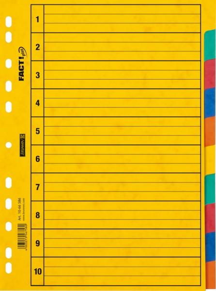 Brunnen Ringbuchregister - A4 - 10tlg - 5 Farben
