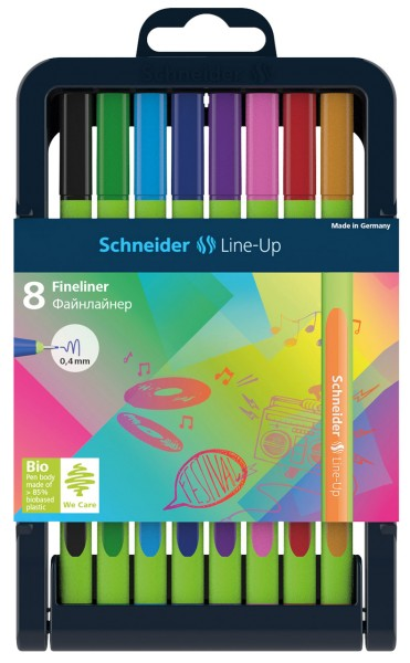 Schneider Fineliner Line-Up 8er-Box