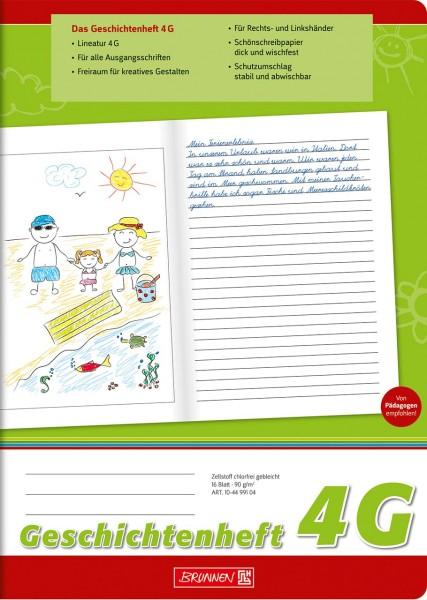 Geschichtenheft - 4G - A4 - Brunnen Klasse 4