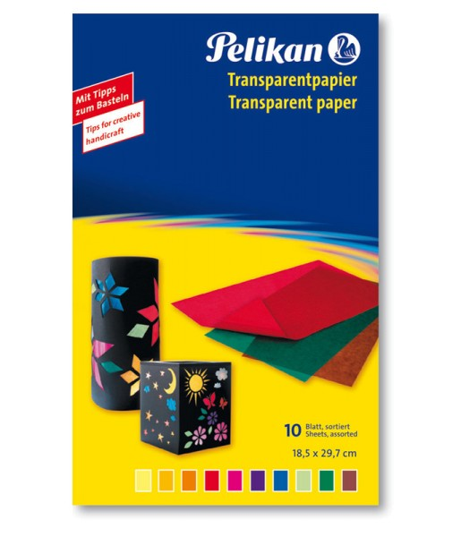 Pelikan Transparentpapier Mappe - 10 Blatt - 10 Farben