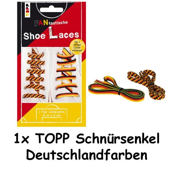TOPP Schnuersenkel Deutschlandfarben