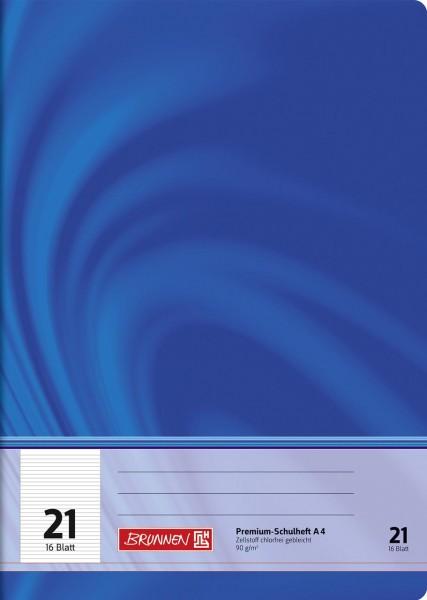 Schulheft A4 Premium Lineatur 21