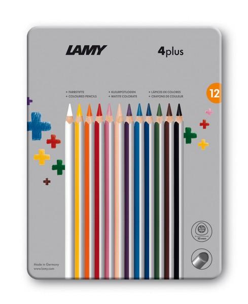 Lamy 4Plus Farbstifte 12er Set Metalletui