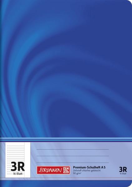 Schulheft A5 Premium Lineatur 3R
