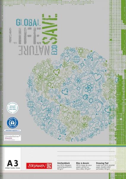Brunnen Zeichenblock - A3 - Recycling