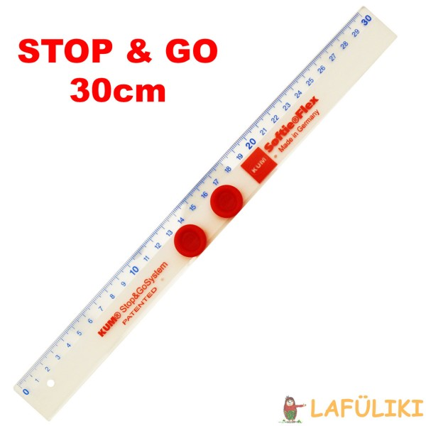 SOFTIE®FLEX Lineal 30 cm Stop&Go Grips