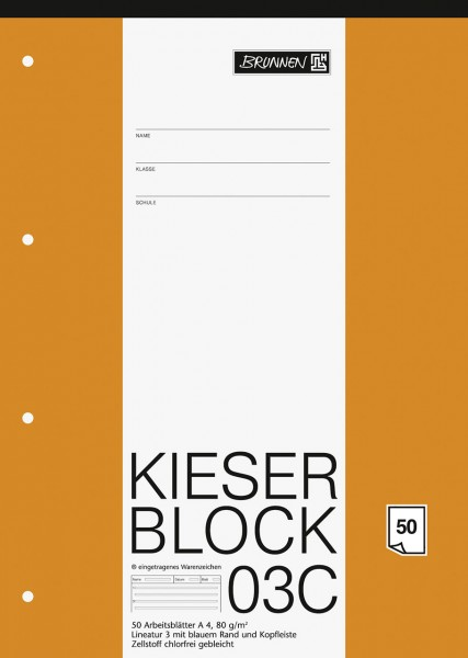 KIESER-Block 03C Lineatur 3 A4