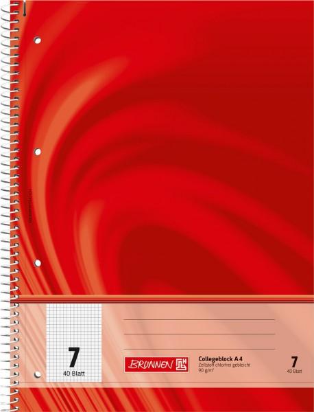 Brunnen - Collegeblock - Lineatur 7 - A4