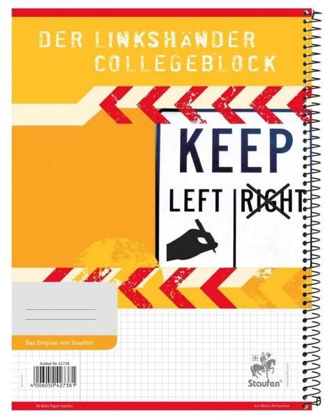 Staufen Collegeblock für Linkshänder Lineatur ist kariert