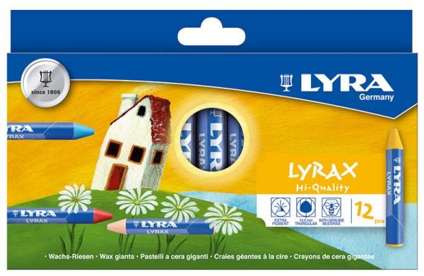 Lyrax Wachs-Riesen dreiflächig 12er Set