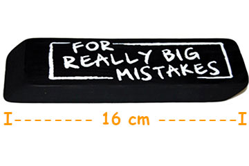 Radierer XXL Radiergummi For Big Mistakes Für große Fehler