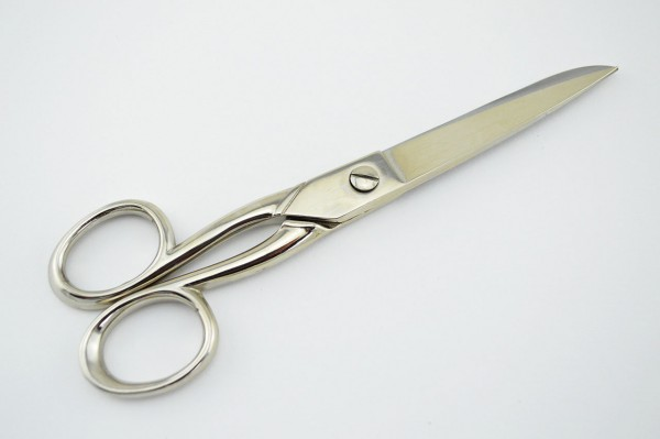 Linkshänderschere vernickelt 16 cm