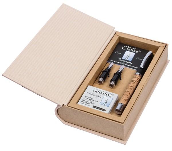 Online Kalligrafie Set Vision Cork - Geschenkbox