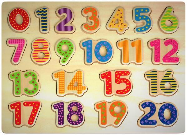 Zahlenpuzzle Zählen lernen aus Holz 1-20
