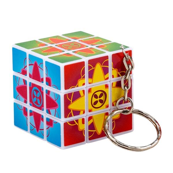 Zauberwürfel mit Schlüsselring von Trendhaus - Motiv Stern