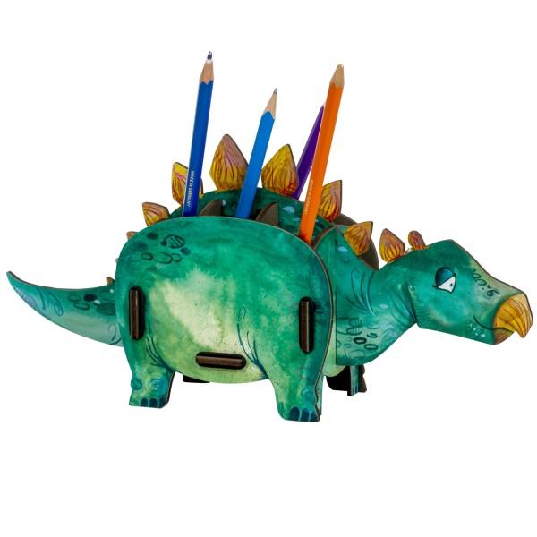 WERKHAUS® Stiftebox - Dinosaurier - Stegosaurus