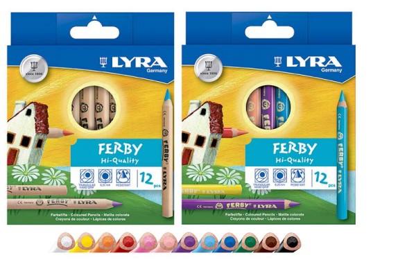 Lyra Ferby Dickkernbuntstift 12er Set dreiflächig
