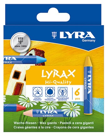 Lyrax Wachs-Riesen dreifl. 6er Set
