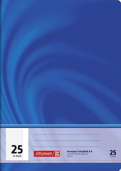 Schulheft A4 Premium Lineatur 25