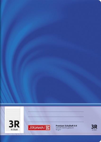 Schulheft A4 Premium Lineatur 3R
