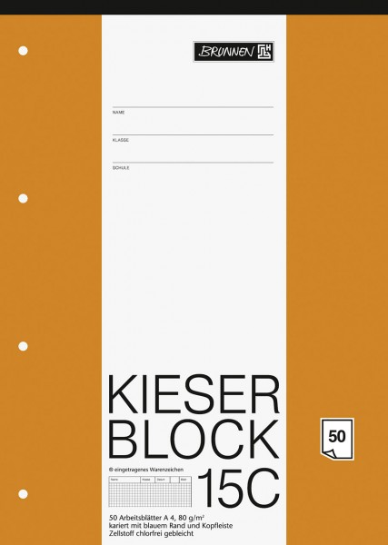 KIESER-Block 15C Lineatur 22 A4