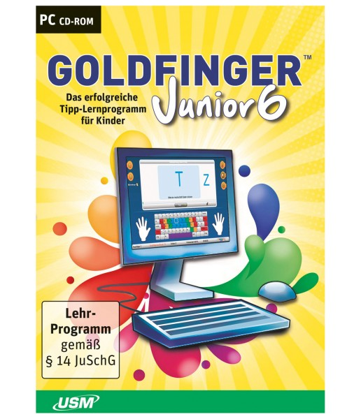 Tastatur-Trainer für Kinder- Goldfinger Junior 6